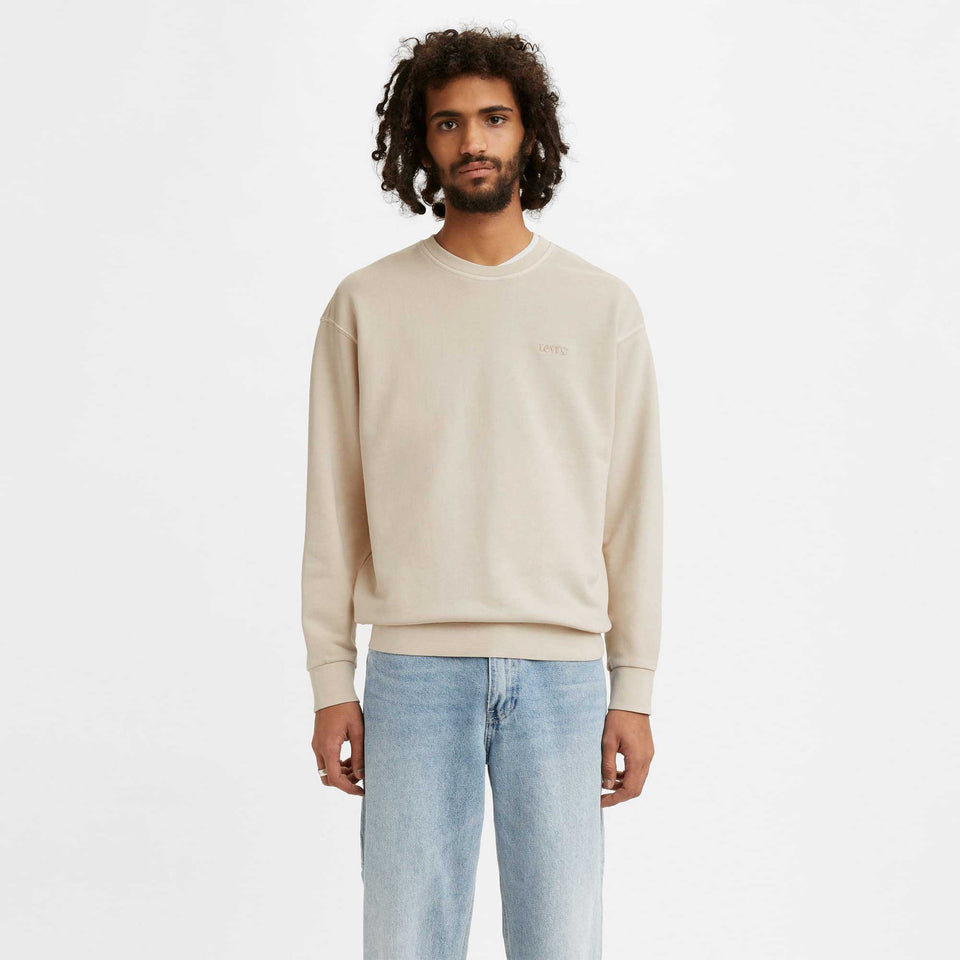 Levis Relaxed Crew Pumice Stone Garment Dye