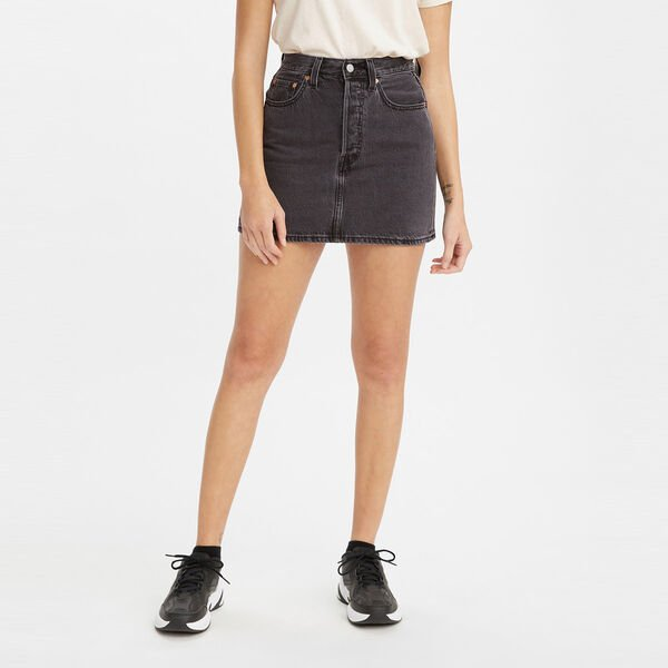 Levis Ribcage Skirt Washed Noir Black
