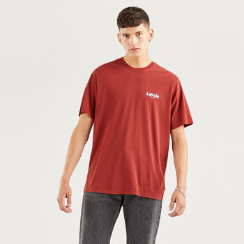 Levis SS Realxed Fit Tee MV Logo Madder Brown