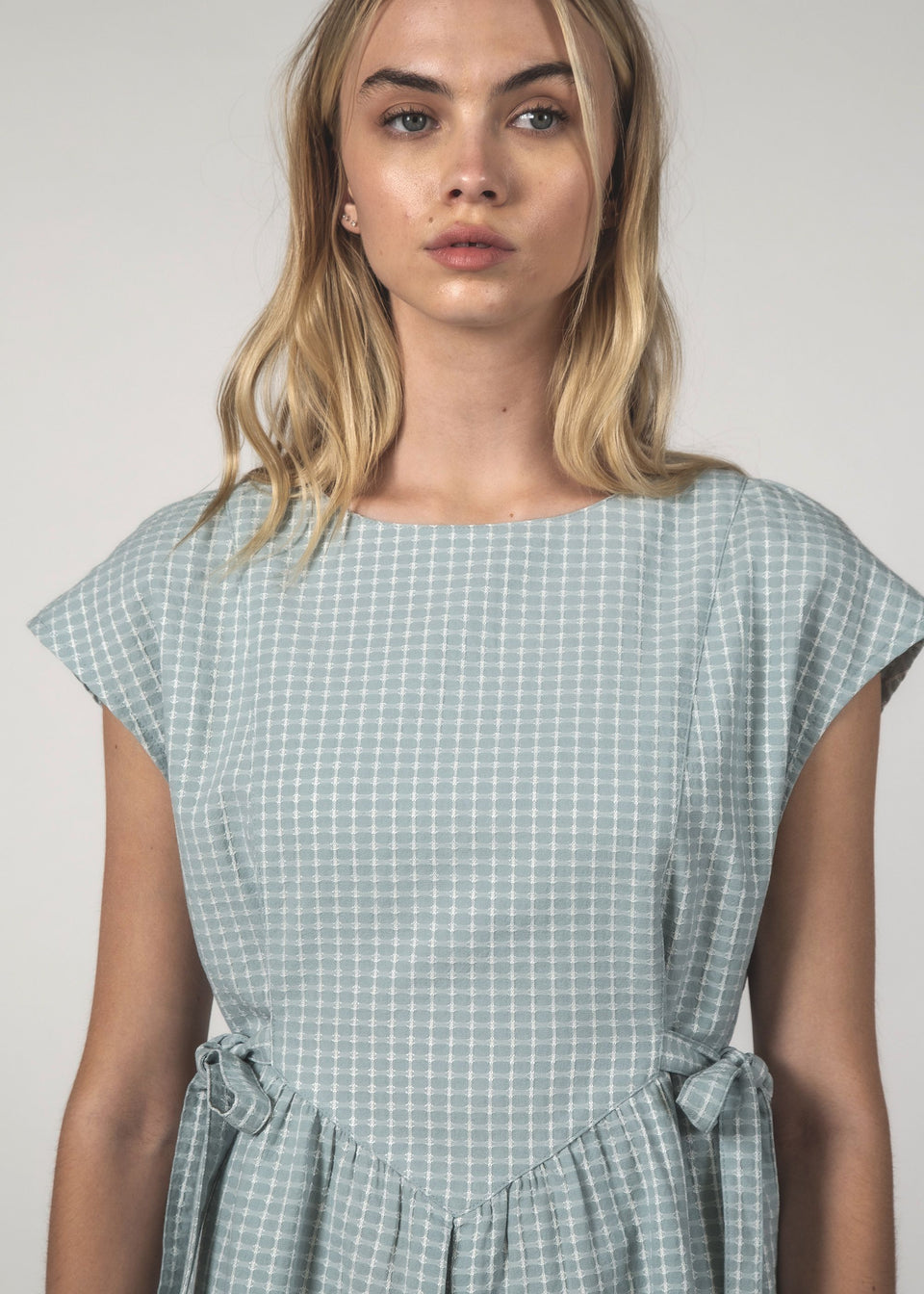 Thing Thing The Margot Dress Sky Crosshatch