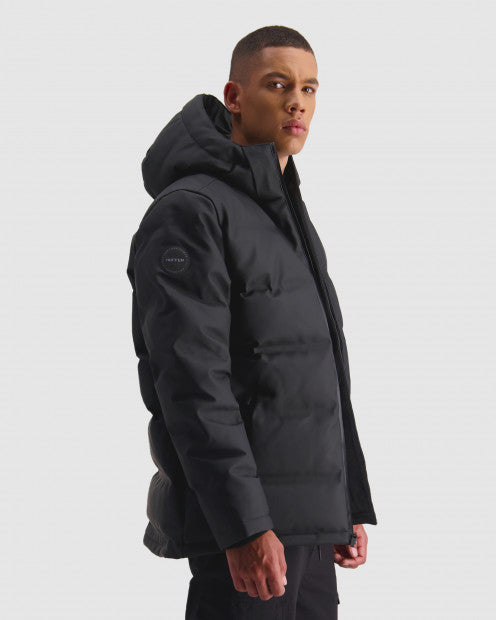 Huffer Mens Superdown Jacket Black - Stencil