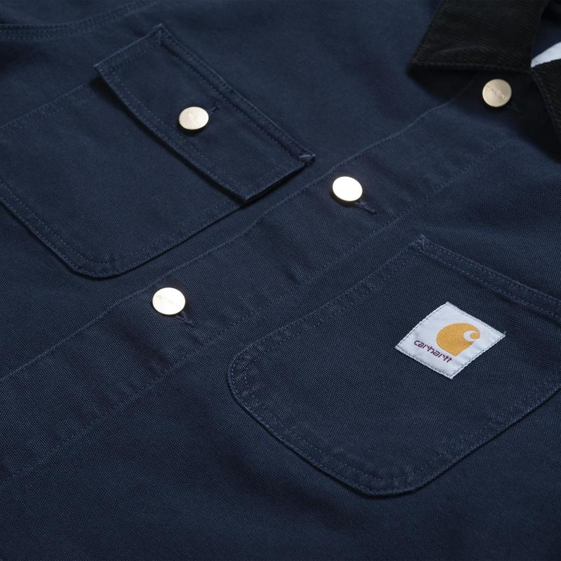 Carhartt Michigan Coat Dark Navy Rinsed - Stencil