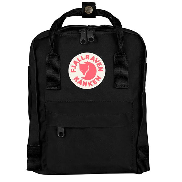 Fjallraven Kanken Mini Backpack Black - Stencil