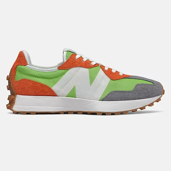 New Balance 327 Energy Lime with Dark Blaze - Stencil