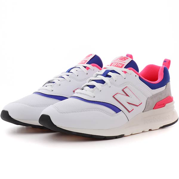 New Balance 997H White/Blue - Stencil