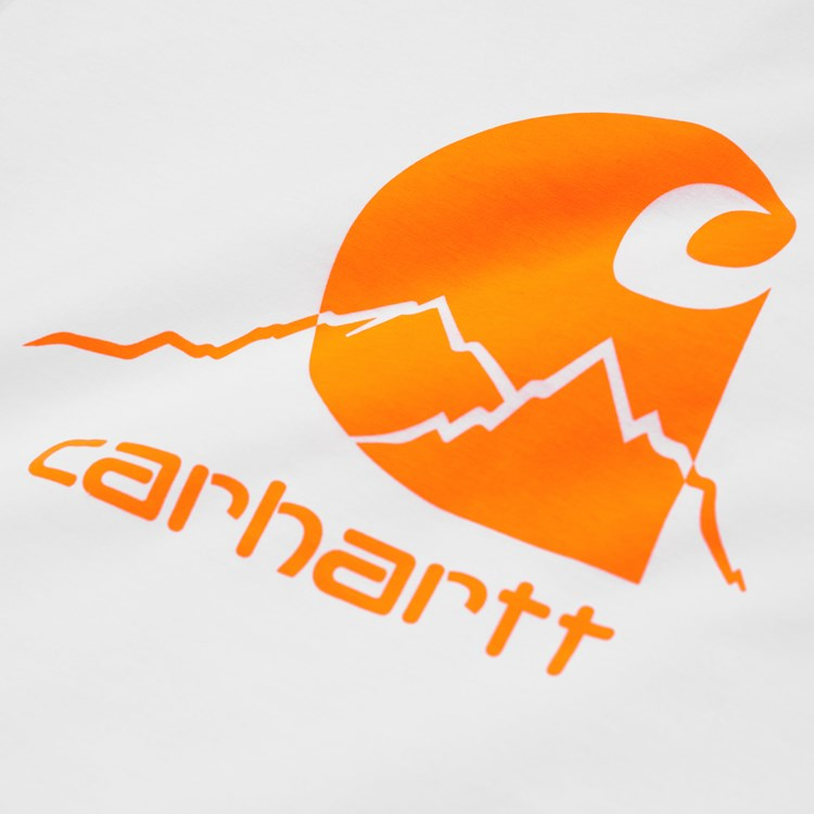 Carhartt S/S Outdoor C T Shirt White / Pop Orange