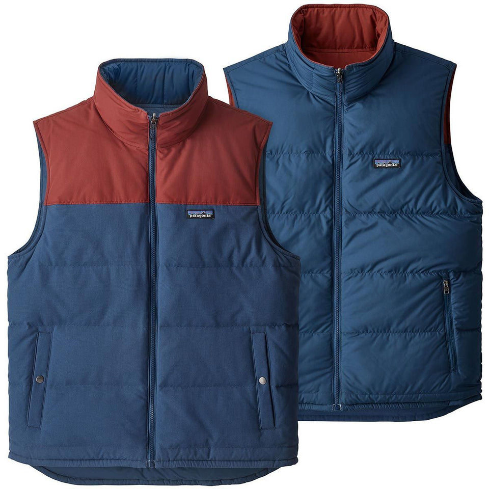 Patagonia Reversible Bivy Down Vest Stone Blue - Stencil