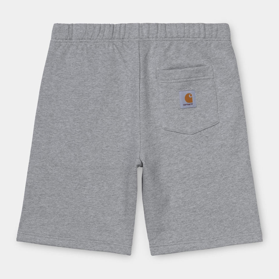 Carhartt Pocket Sweat Short Grey Heather - Stencil