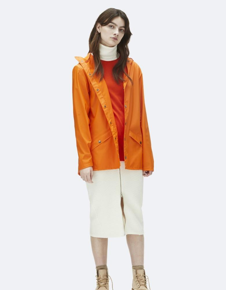 Rains Jacket Fire Orange - Stencil