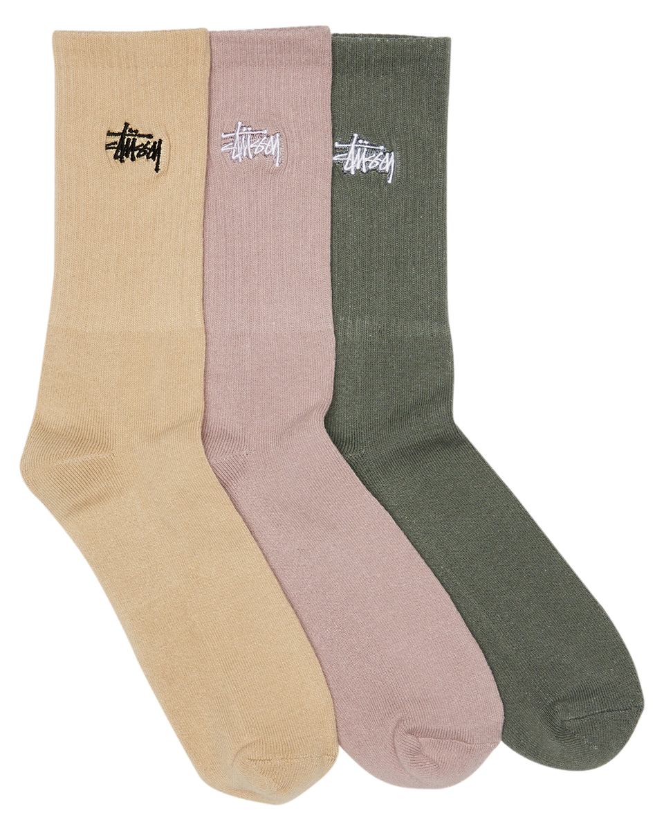 Stussy Graffiti Sock 3pk Multi - Stencil