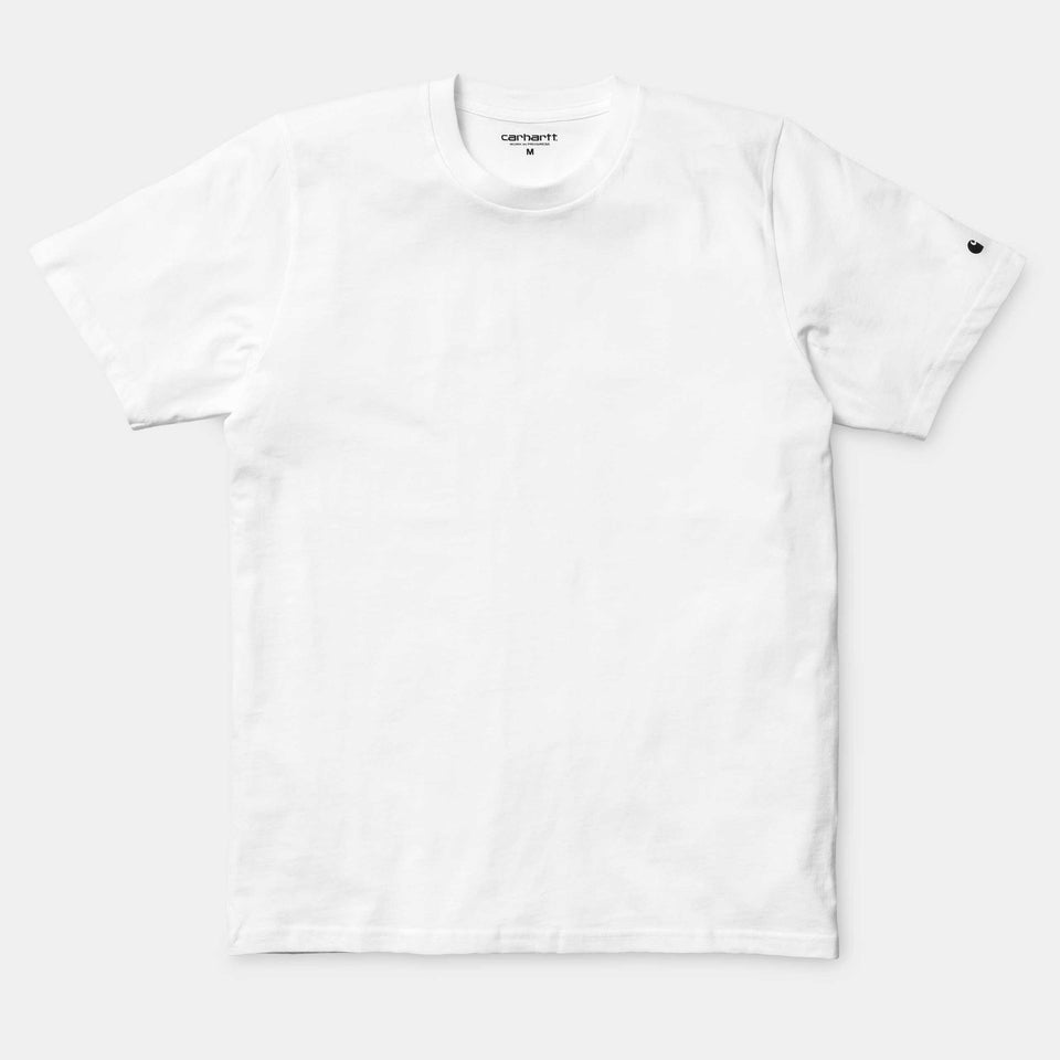 Carhartt Short Sleeve Base T Shirt White/ Black - Stencil