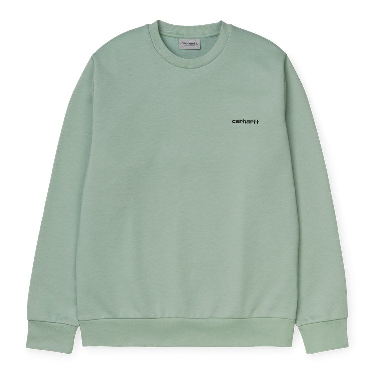 Carhartt Script Embroidery Sweat Frosted Green / Black