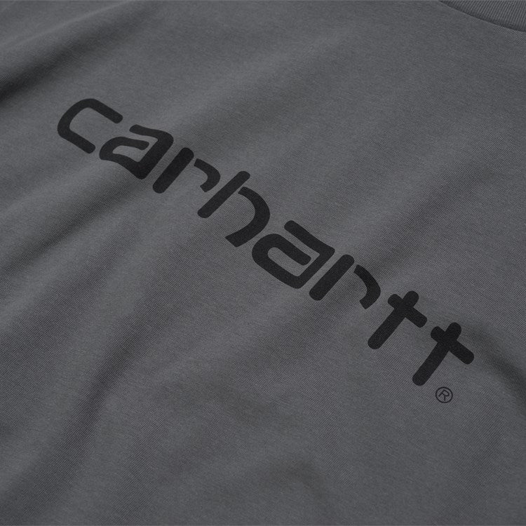 Carhartt Short Sleeve Script T Shirt Husky / Black
