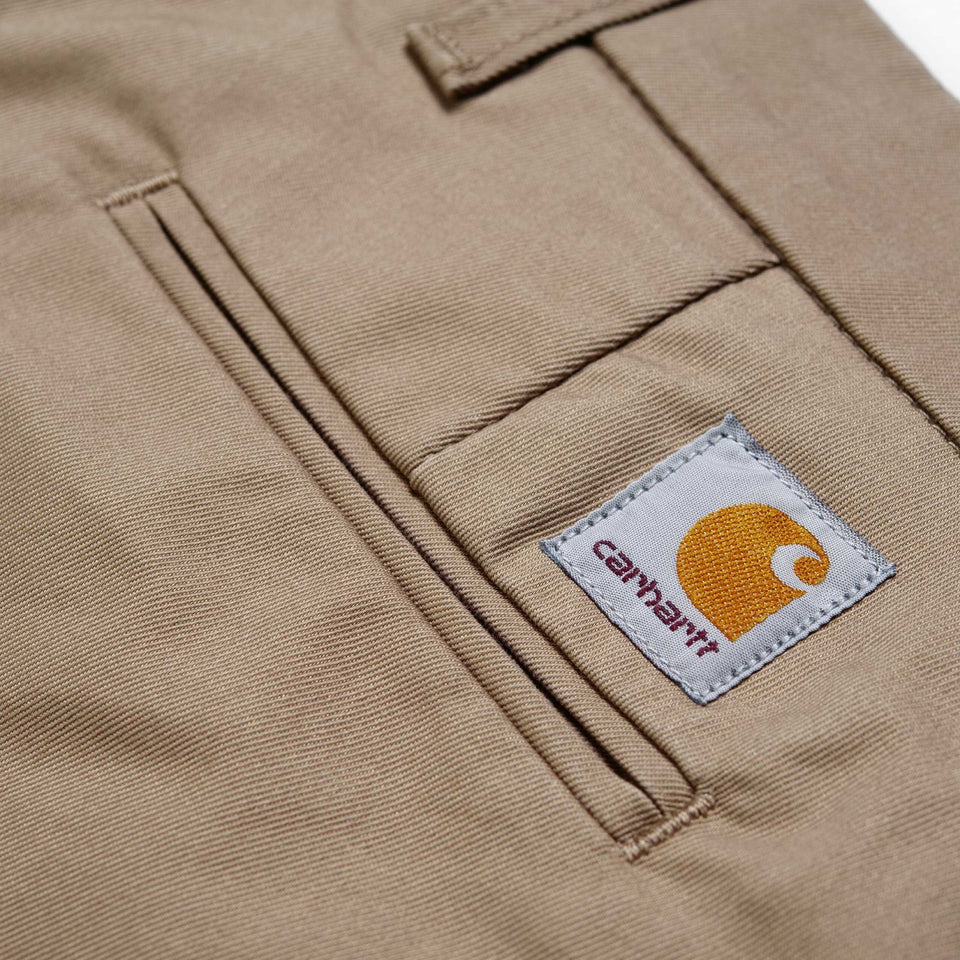 Carhartt Sid Pant Leather rinsed - Stencil