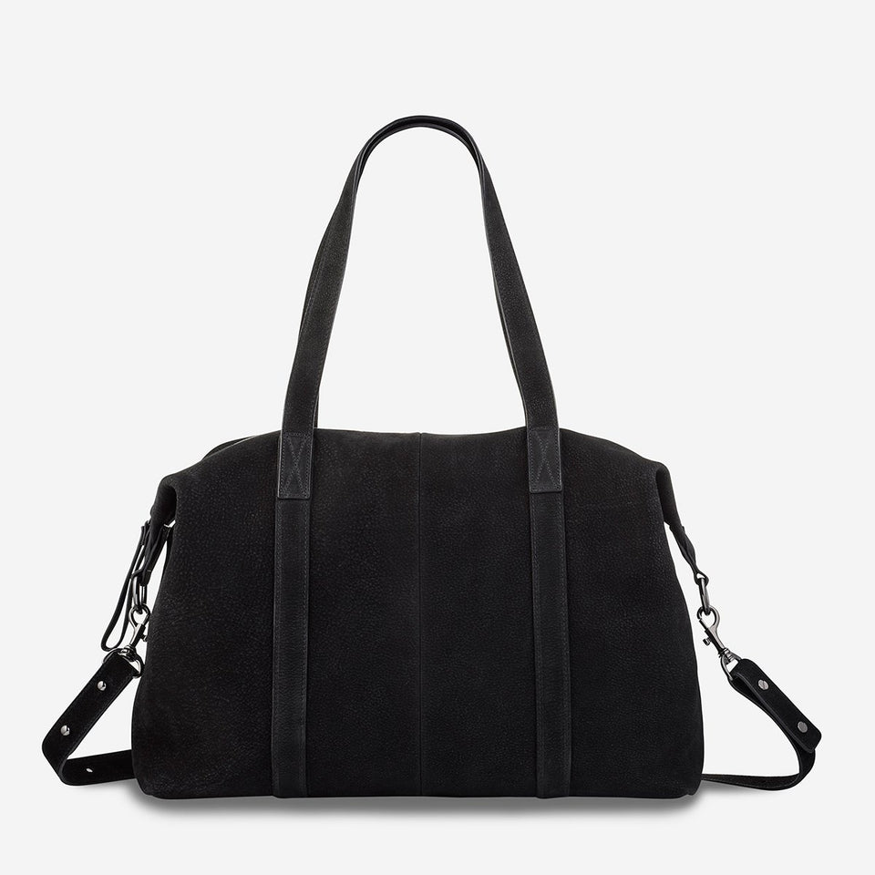 Status Anxiety Fall of Hearts Bag Black Suede - Stencil