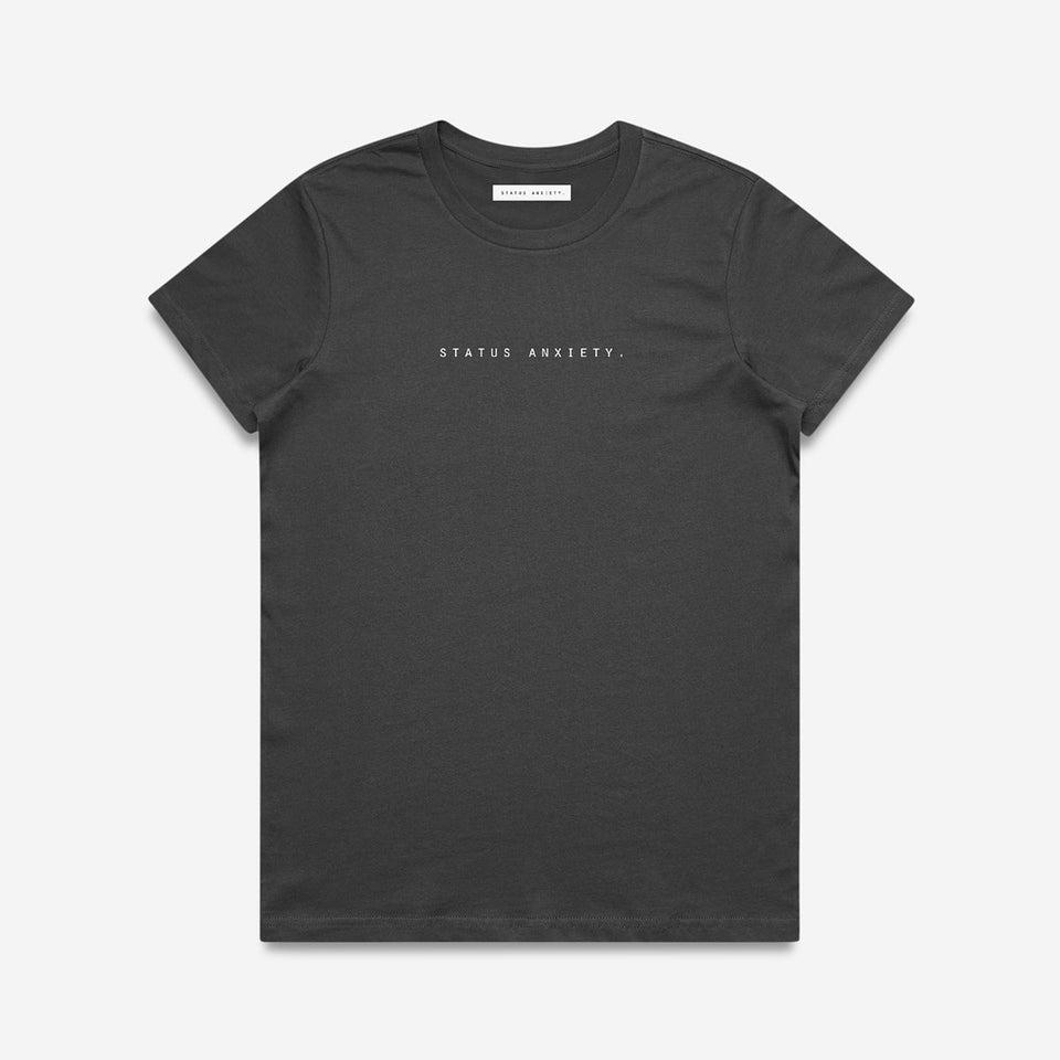 Status Anxiety Think It Over Tee Charcoal