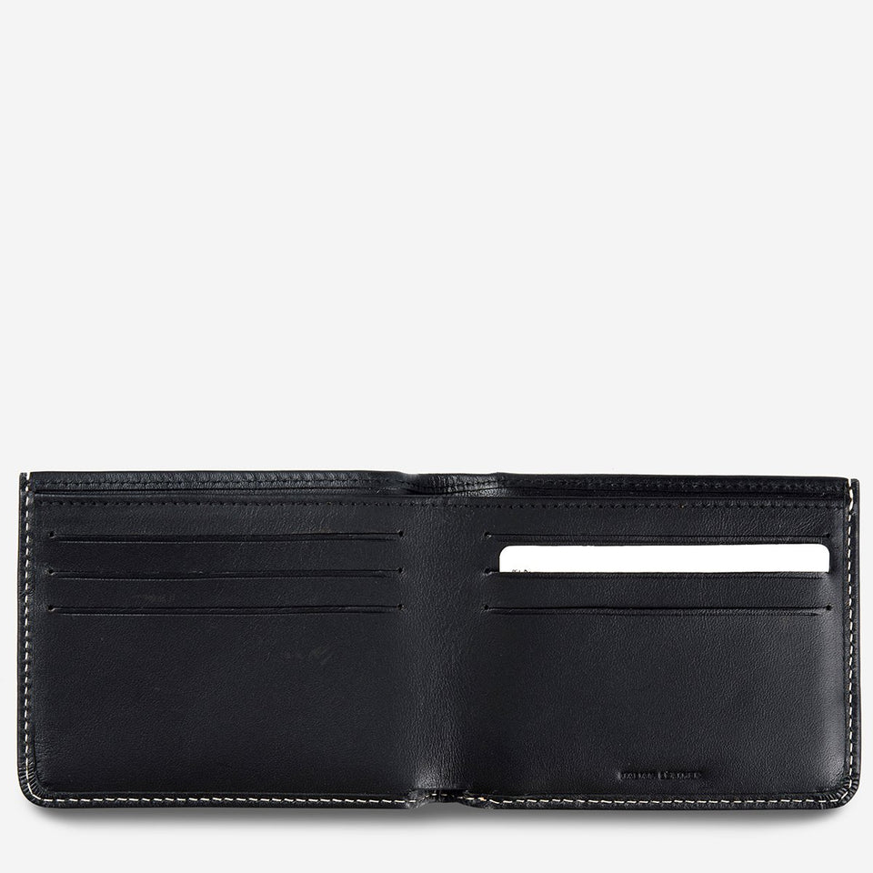 Status Anxiety Alfred Wallet Black - Stencil