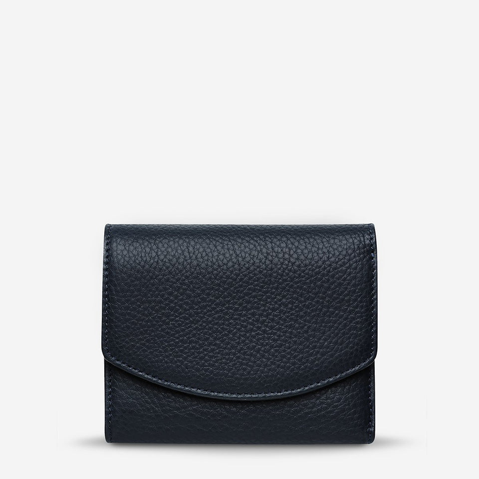 Status Anxiety Lucky Sometimes Wallet Navy Blue