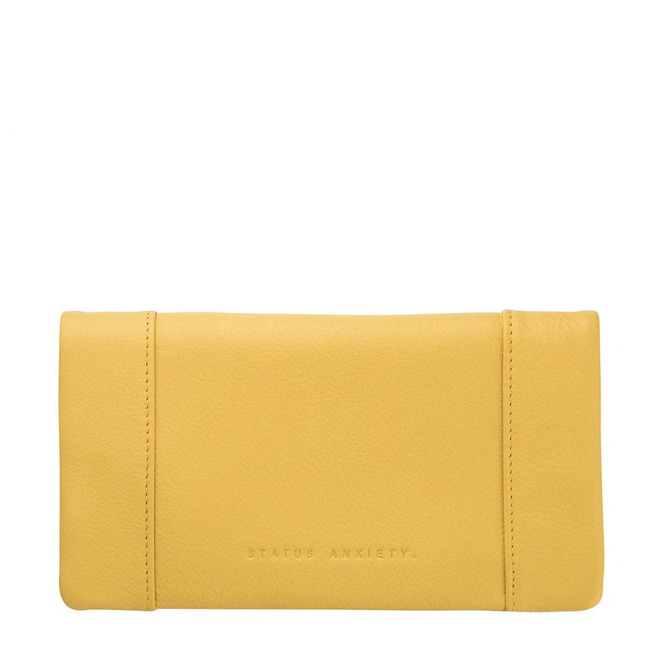 Status Anxiety Some Type of Love Wallet Yellow - Stencil