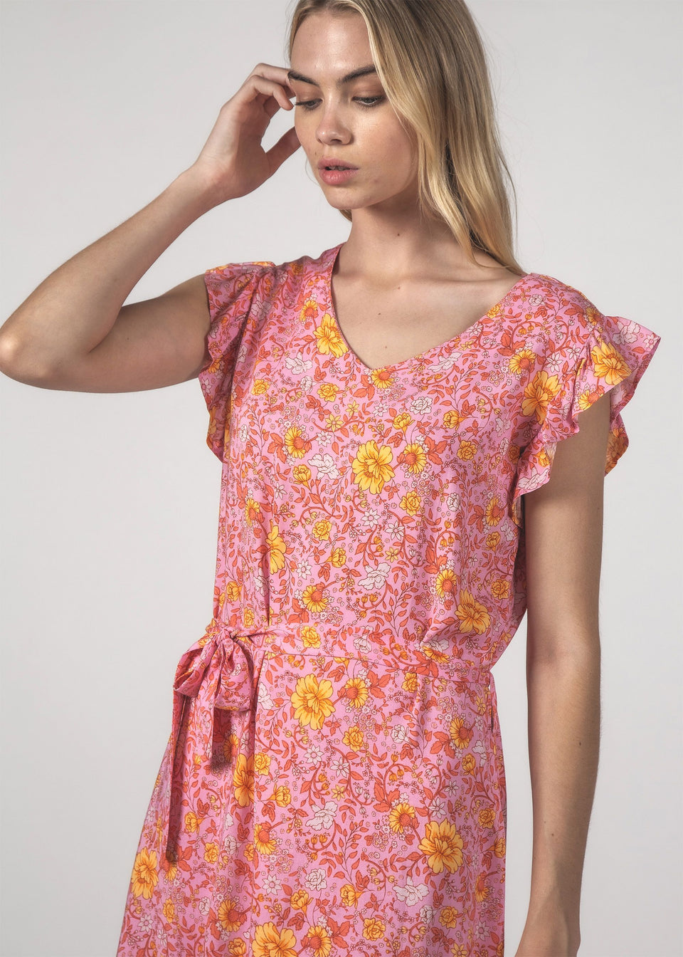 Thing Thing Stella Dress Floral Pink