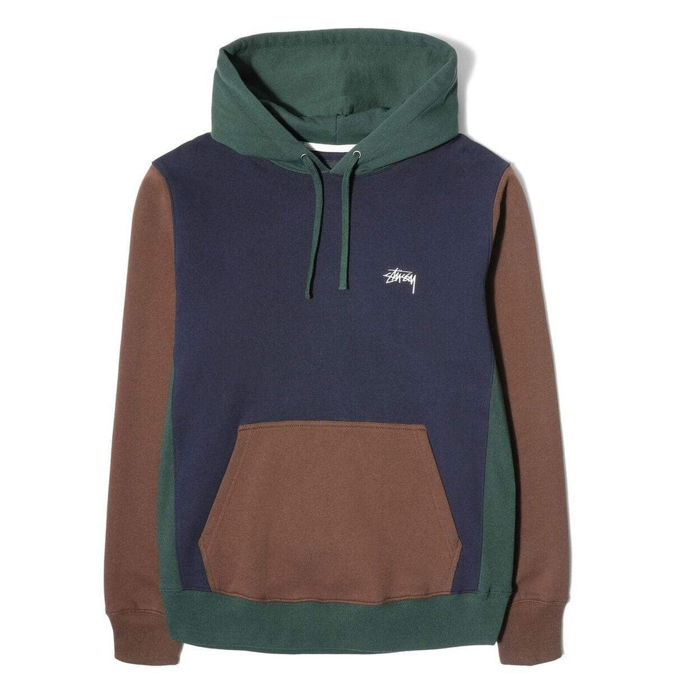 Stussy Colour Blocked Hood Navy - Stencil