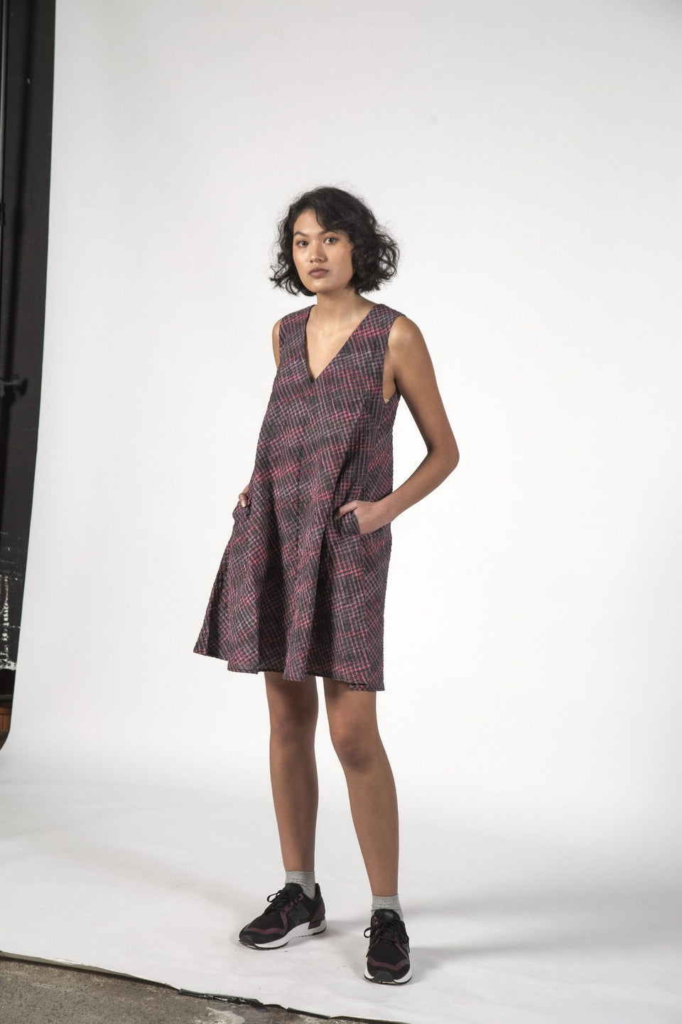 Thing Thing Estelle Dress - Charcoal Check