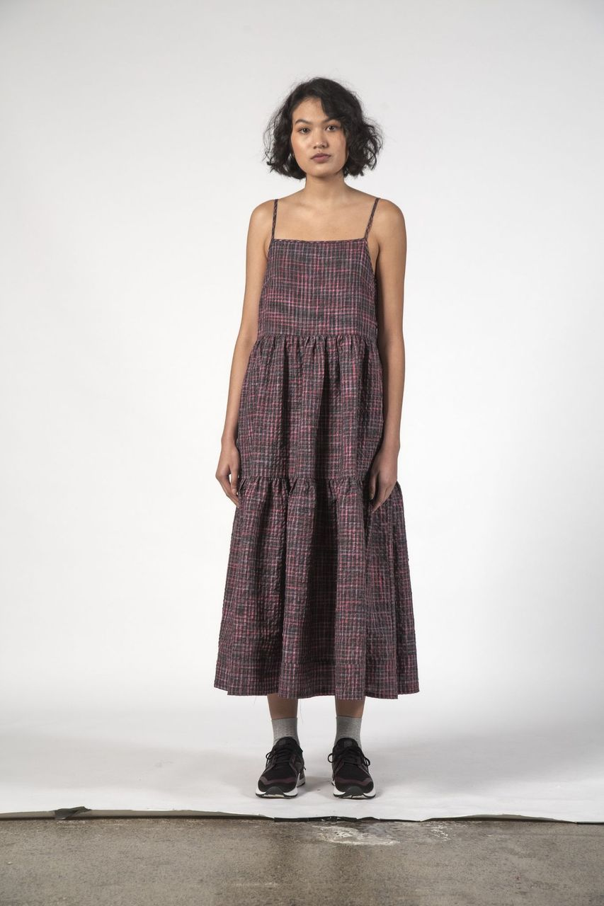 Thing Thing Ziggy Dress - Charcoal Check