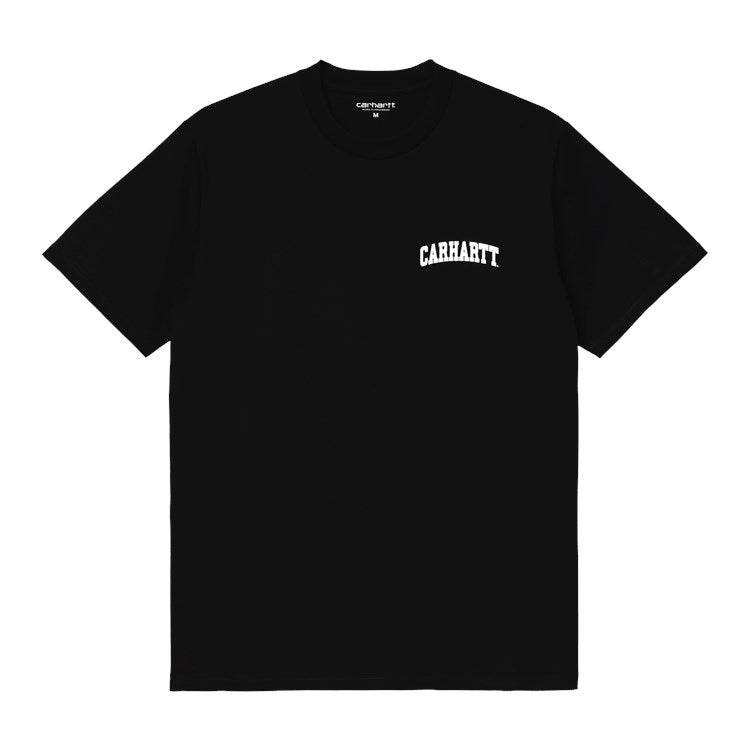 Carhartt S/S University Script Tee Shirt Black / White