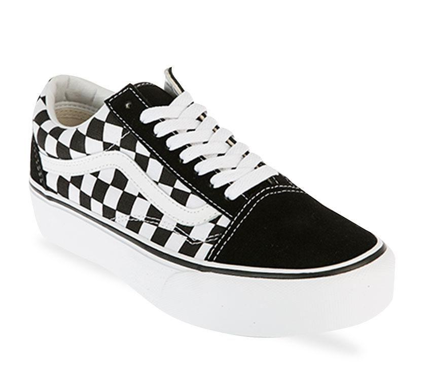 Vans Old Skool Platform Black/White Checkerboard - Stencil