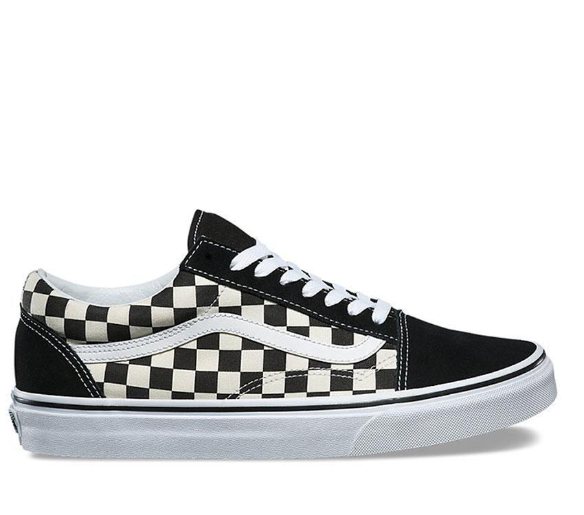 Vans Old Skool Primary Check Black/White - Stencil
