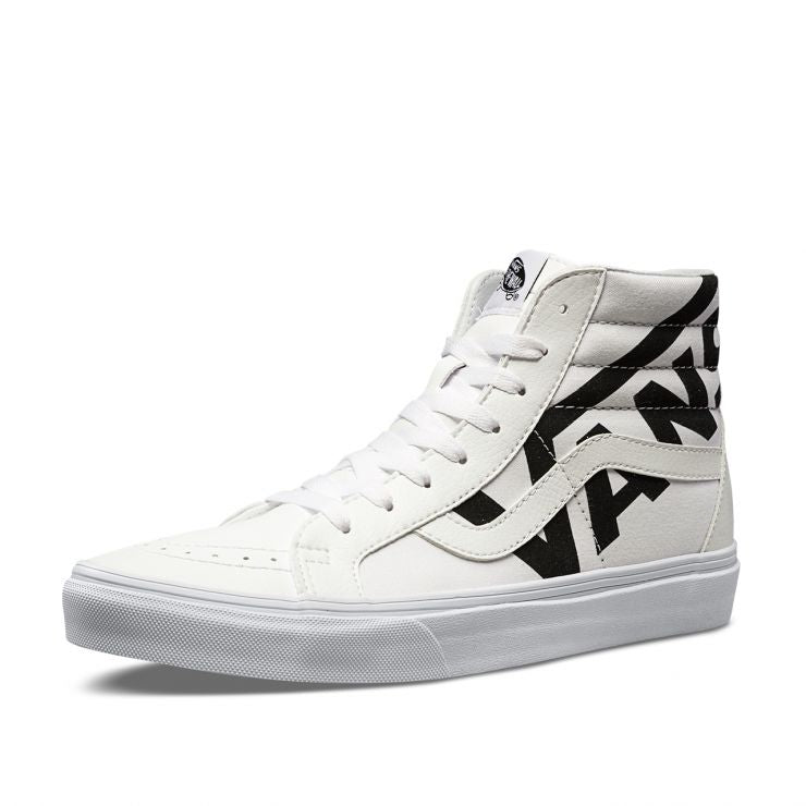 Vans Sk8-Hi Reissue True White/Black - Stencil