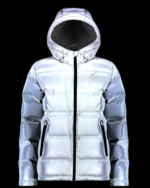 Huffer Wmns Superdown Jacket Reflectiv - Stencil