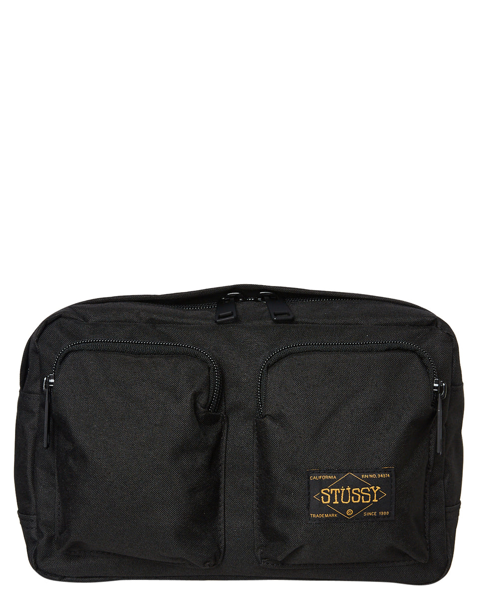 Stussy Workwear Utility Bag Black - Stencil