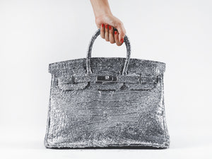 "Tyler Shield's ""Glitter Birkin"" on Luster Paper"