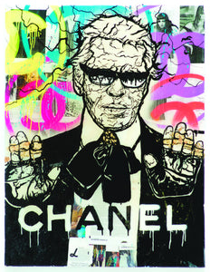 "Alec Monopoly's ""Lagerfeld Chanel: Diamond Dust"" Artist Proof's"