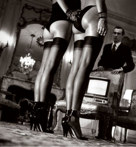 "Helmut Newton's ""Legs in Stockings at Attention"" Silver Gelatin Print"