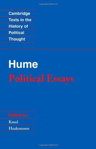 Hume: Political Essays (Cambridge Texts in the History of Political Thought)