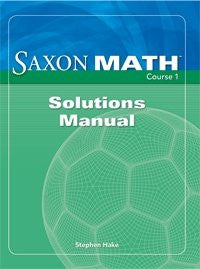 Math Course 1 Solution Manual