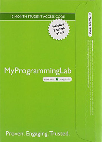 MyProgrammingLab with Pearson eText -- Access Code Card -- for Absolute Java