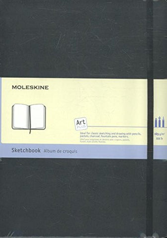 Moleskine Art Plus Sketchbook, A4, Black, Hard Cover (12 x 8.5) (Professional Folio Series)
