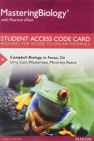 MasteringBiology with Pearson eText -- Standalone Access Card -- for Campbell Biology in Focus (2nd Edition)
