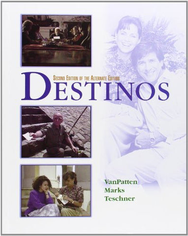 Destinos Student Edition w/Listening comprehension Audio CD, 2nd Edition