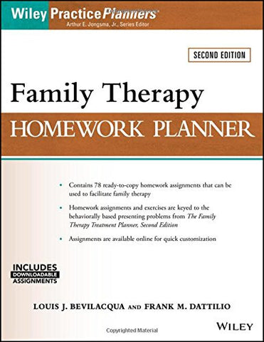 Family Therapy Homework Planner (PracticePlanners)