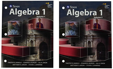 HMH Algebra 1 Texas: Interactive Student Edition, Volumes 1 & 2 Bundle 2016