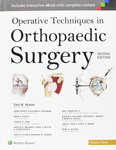 Operative Techniques in Orthopaedic Surgery (Four Volume Set)