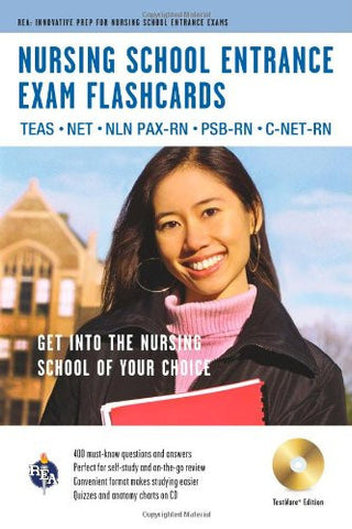 Nursing School Entrance Exams (TEAS) Flashcard Book Premium Edition w/CD-ROM (Nursing Test Prep)