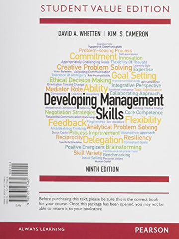 Developing Management Skills, Student Value Edition Plus MyManagementLab with Pearson eText -- Access Card Package (9th Edition)