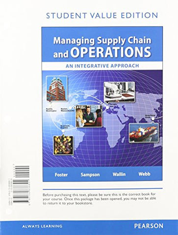 Managing Supply Chain and Operations, Student Value Edition Plus MyOMLab with Pearson eText -- Access Card Package1