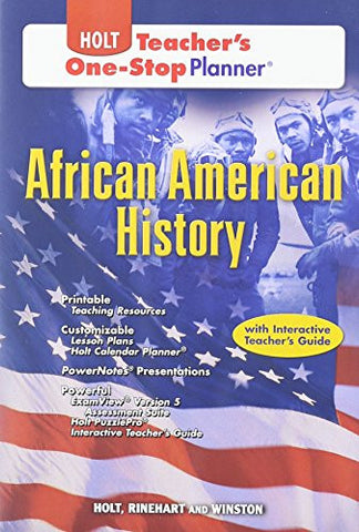 Holt African American History Teacher's One Stop Planner