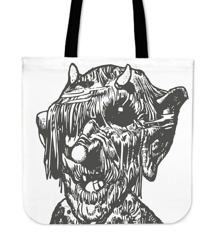 Monster Print Tote Bag